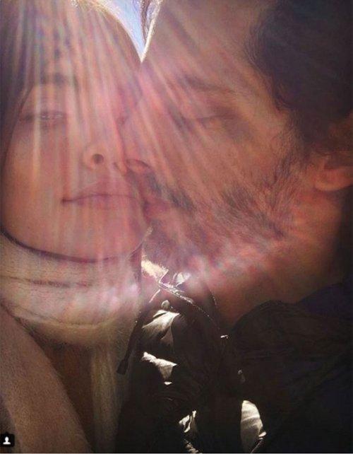 Eva De Dominici y Joaquín Furriel, en el Instagram de ella.&amp;nbsp;<div></div>