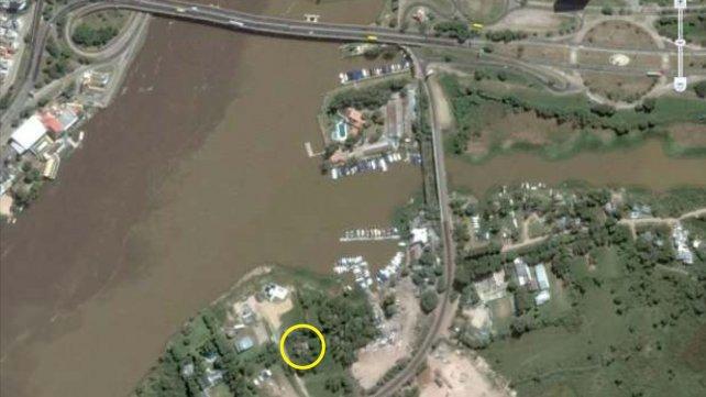 Imagen satelital del predio de Los Guácharos.