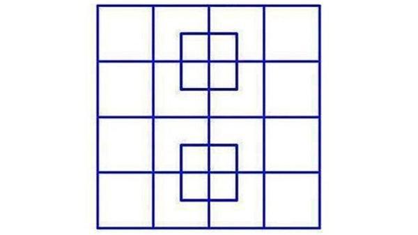 ¿Cuántos cuadrados hay? El nuevo reto que circula en redes sociales