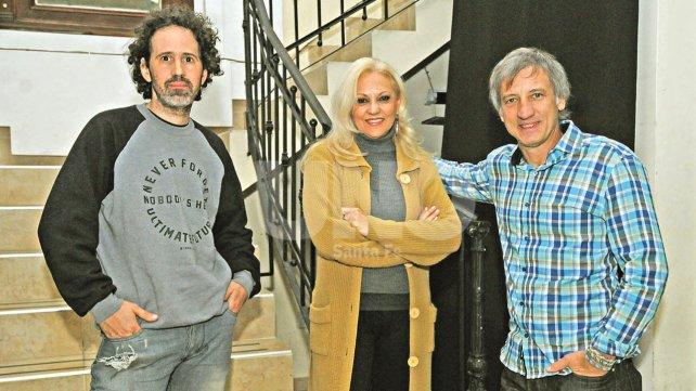 Benzaquén, Marchese y Soffici. Impulsores de Sector Audiovisual Santa Fe, un espacio abierto a la participación de realizadores de la región.