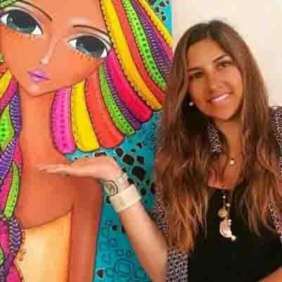 La artista cordobesa, quien fue convocada para la realización de la imagen de una nueva marcha de mujeres bajo el lema #NiUnaMenos.