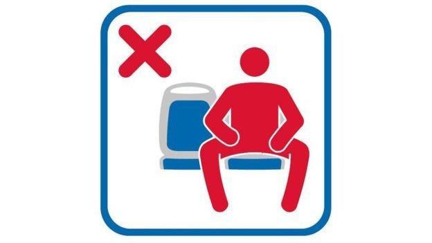 Esta imagen forma parte de la campaña contra el manspreading que se realizará en Madrid.