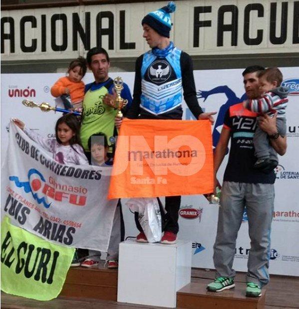 Luis Arias, Nicolás Ternavasio y Gastón Ramallo (15km).