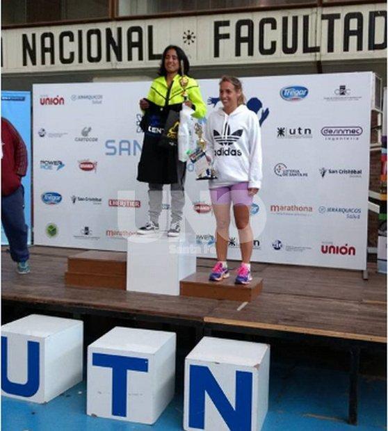 Andrea Lazzarini, ganadora de los 15km de damas.