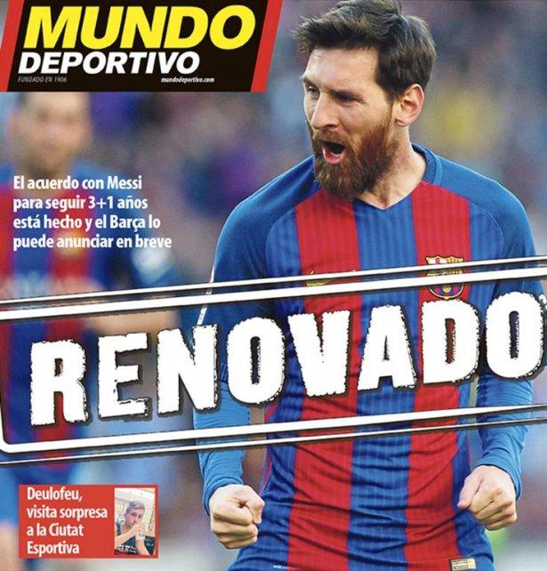 Barcelona cierra la renovación de Messi
