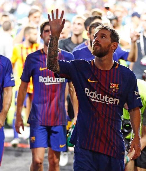 Leo Messi fue elegido como el mejor jugador de la historia de la liga española