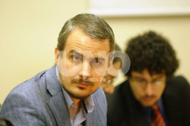 <b>Mario Guedes</b>. El defensor del condenado pidió que no le saquen fotos a su defendido.